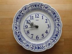 Hagymamintás porcelán tányér óra falióra