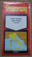 Olaszország autótérképe, 1992 (olasz térkép)