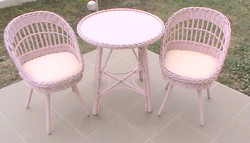 Tündéri, rózsaszín fonott ülőgarnitúra lányszobába