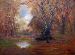 """Kézdi- Kovács László ( 1864 - 1942 ) """" Pihenő pásztor """""""