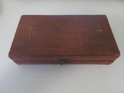 6 darab ezüst kiskanál dobozában