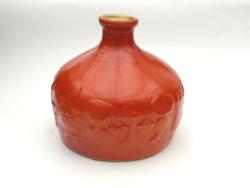 Narancssárga zodiákus váza - retro iparművész Tófej váza