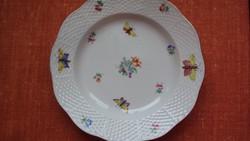 Ó-HERENDI tányér sok kis lepkével,kosárfonásos széllel.