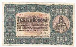 Ropogós 1923 10 000 Korona, Nyomdahely nélkül.