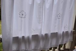 Álomszép azsúros horgolt függöny drapéria pár