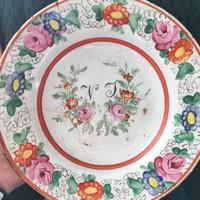 Apátfalvi , Bélapátfalvi népi festett tányér .