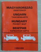 Magyarország zsebtérkép, 1992 (magyar térkép)