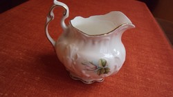 """""""Arany esküvős"""", rózsabimbós dombordíszes,öblös kis barokk kancsó.(Staffordshire)"""