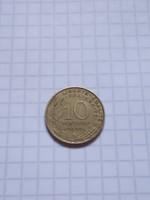 Szép 10 Centimes Franciaország 1968 !