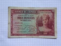 Szép 10  Peseta Spanyolország 1935 !!
