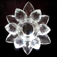 Kristály üveg mécsestartó