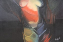 Modern női akt festmény