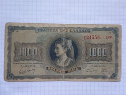 1000 Drachma 1942 Görögország !