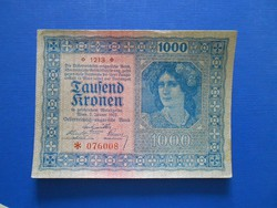 Hajtatlan 1000 korona 1922