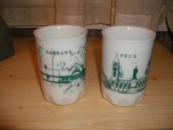 Zsolnay emlék poharak