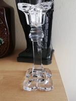 Meseszép üveg gyertyatartó
