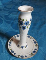 Zsolnay Erika mintás asztali gyertyatartó porcelán