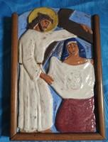 Antik stáció - Veronika a kendőjét odaadja Jézusnak - találkozás a keresztúton