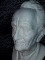Életnagyságú - művészi Szent-Györgyi Albert - szobor  büszt dupla fa talpon