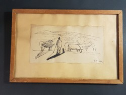 Borsos Miklós rajz 1952