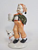 Kézzel festett régi német porcelán figura