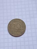 20 Centimes Franciaország 1963 !