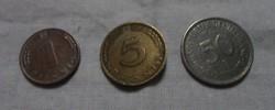 Német pénz - érme, Pfennig (NSZK, München, 1970-es évek)