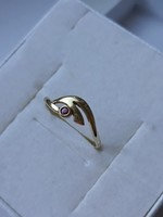 8 karátos jelzett köves arany gyűrű