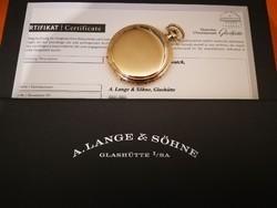 A.Lange & Söhne 14K - .585 zsebóra - Eredetiség igazolás és hitelesített nettó 42g arany tartalom