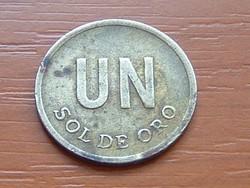 PERU 1 SOL DE ORO 1976 #