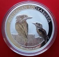 2017 Ausztrália Kookaburra (kokabura) egy uncia (31,1 g) ezüst 1 dollár érme, Ag999