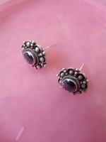 Magnetit, kővel, jelzett ezüst, bedugós fülbevaló!