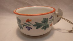 Antik vastag falú alján is festett porcelán csésze
