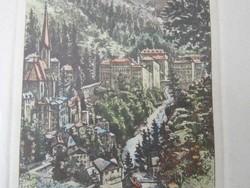 Ausztria (Badgastein)Régi színezett aprólékos kidolgozású rézkarc , jelzett