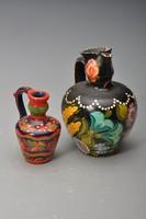 Ritka Kalocsai pingált cserép korsók,  hagyományos motívumokkal, húsvéti ajándéknak.