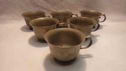 BMF alpakka nagy ritka különleges csészék