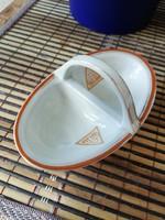 Zsolnay porcelán asztali fűszertartó,pajzspecsétes