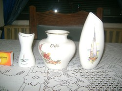 Emlék váza - három darab - Balaton, Orfű
