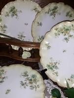 Gyönyörű limoges süteményes tányérok-4 db együtt