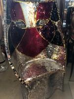 Modern,maszk fotel tükör-üveg mozaik