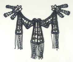 0V640 Régi gyöngyfűzött gyönyörű ruhadísz