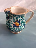 2db kézzel festett kerámia kancsó vagy váza