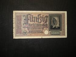 Németország 50 márka 1939-1945  Horogkeresztes!Szárazpecsét!Ritkább!