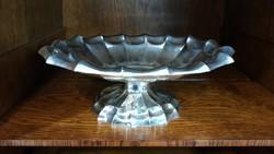 Ezüst Art Deco ovális kínáló