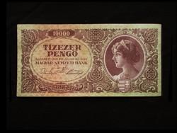 10 000 PENGŐ - T/II TARTÁSBAN - BÉLYEG NÉLKÜL