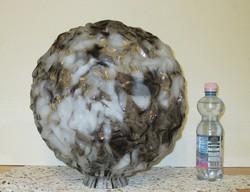 Óriási üveg lámpabúra ritkaság gyürt hatású vastag üveg
