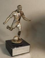 Bronz focista szobor márvány talapzaton 16 cm