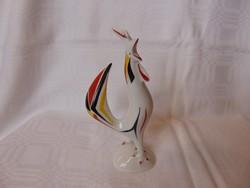 Hollóházi porcelán Art Deco kakas