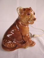 Oroszlán kölyök Lippelsdorfi porcelán lámpa