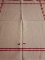 Hímzett monogrammal vászon törülköző,terítő